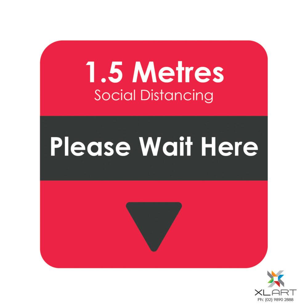 XLART DTS Covid19 Covid Floor Stickers Decals Social Distancing Sydney Melbourne Australia please wait here