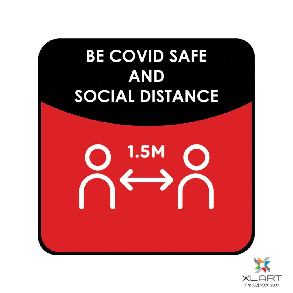 XLART DTS Covid19 Covid Floor Stickers Decals Social Distancing Sydney Melbourne Australia be safe social distance