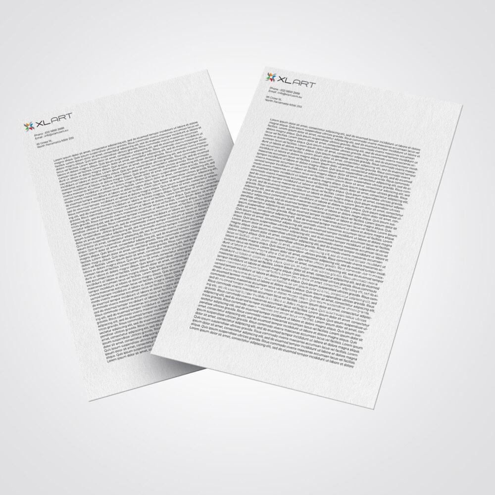 XLART document letterhead Printing Marketing Materials Sydney Australia Digital Print Sydney Australia DTS thumbnail