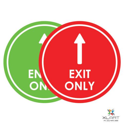 XLART DTS Covid19 Covid Floor Stickers Decals Social Distancing Sydney Melbourne Australia Entry Exit